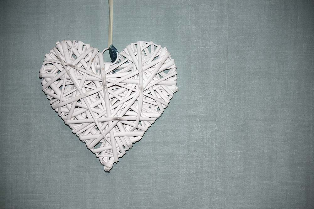 Decorative heart on wall